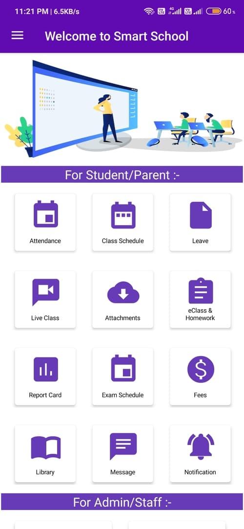 Smart School : A Complete school management system software